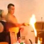 ガソリンたいまつうえーいwww室内で火遊びおじさん、家が全焼