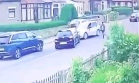 車泥棒さん、警察の追尾中に一般人のフリをする演技で無事逃走
