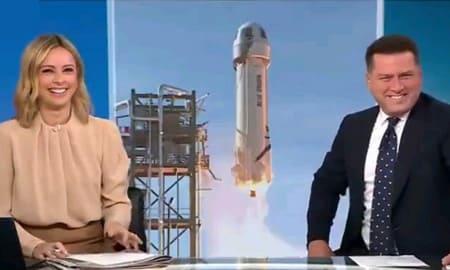 卑猥が飛んでいく!!!アマゾンCEOの個人ロケットの形がアレすぎてニュースキャスターが大草原