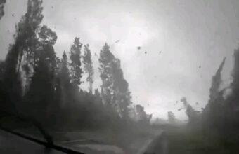 巨大ハリケーンに車で突入、森林フィールドが一瞬にして草原に変化
