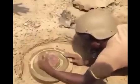 究極のトラップ地雷on地雷、除去部隊が解体するも下にもさらに1個あって…